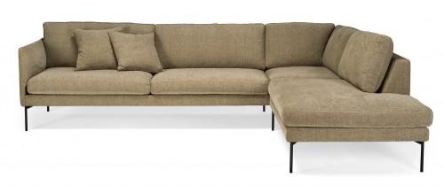 ELEGANTE 2-vietė sofa + atviras galas